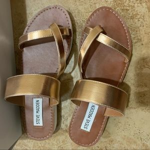 rose gold Steve Madden sandals